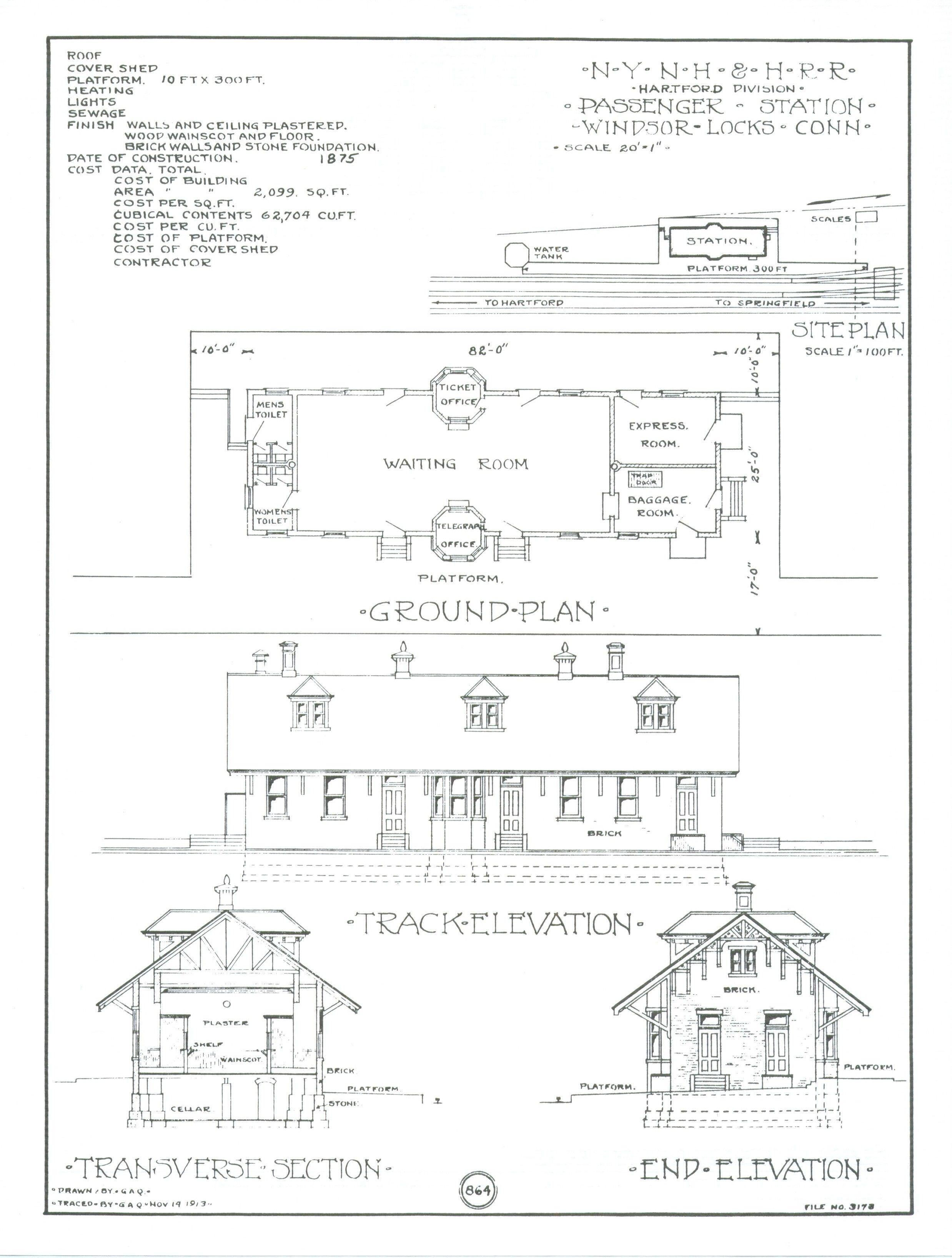 Train Depot Blueprints