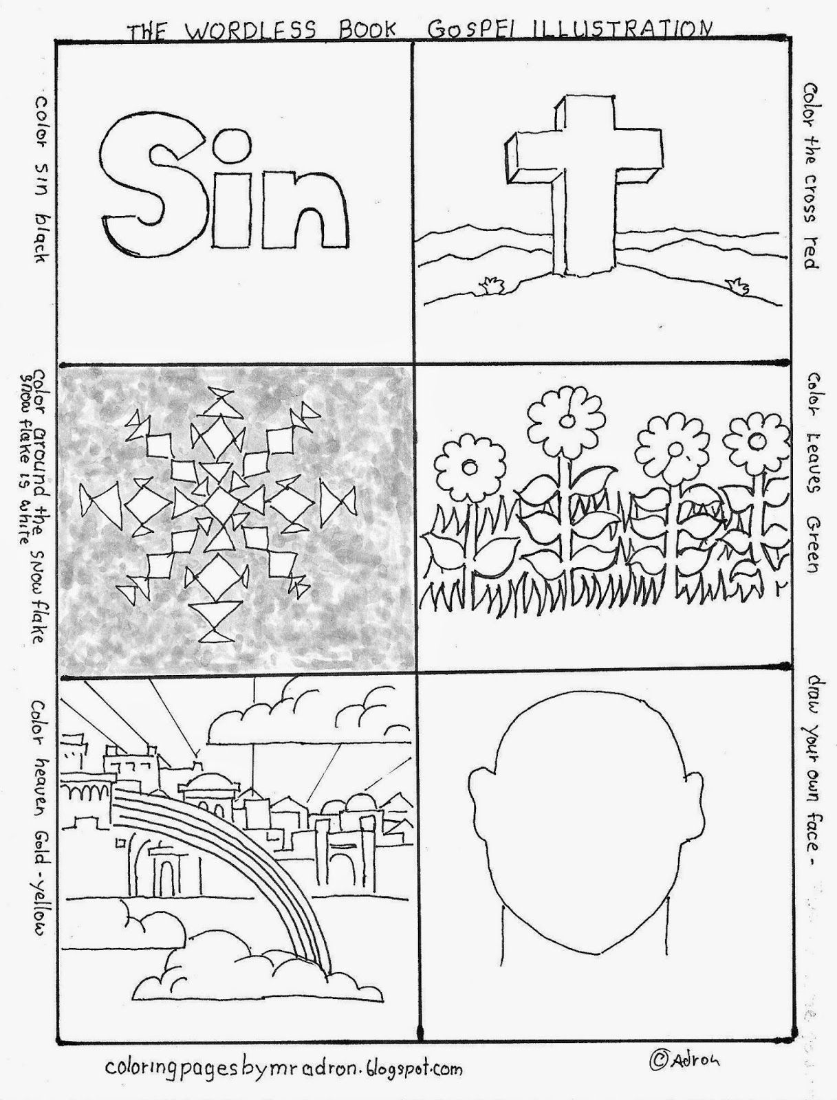 Wordless Book Gospel Coloring Page Free Wordless Book Coloring