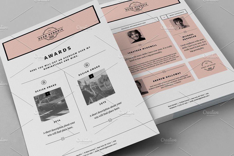 Ad Resume CV Portfolio by Egotype on creativemarket