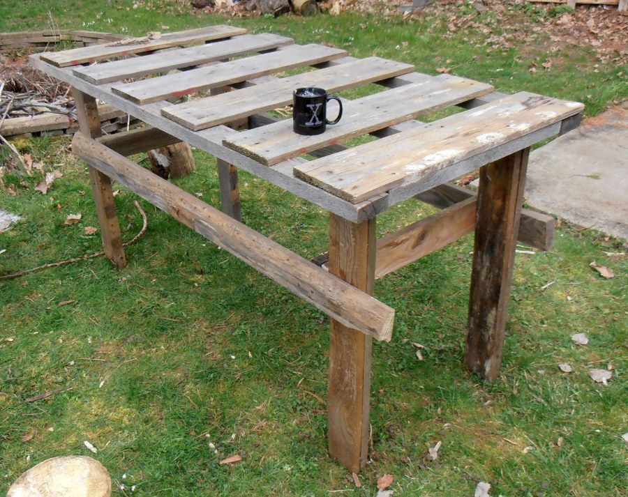 pallets outdoor table google search - Garden Furniture Crates
