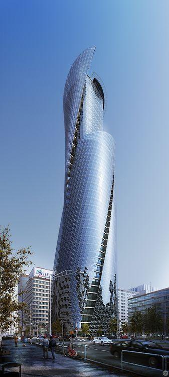 Aedas Pentominium Tower Dubai Uae Futuristic Tower Futuristic