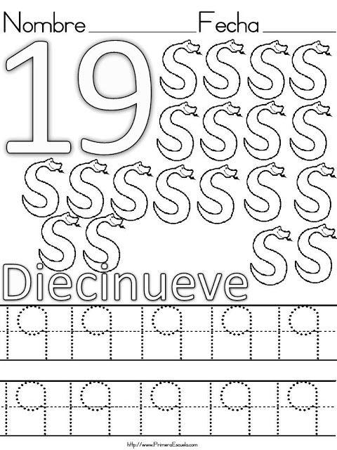 Resultado De Imagen Para Numero 19 Para Colorear Grafomotricidad Actividades De Matematicas Preescolares Figuras Geometricas Para Preescolar
