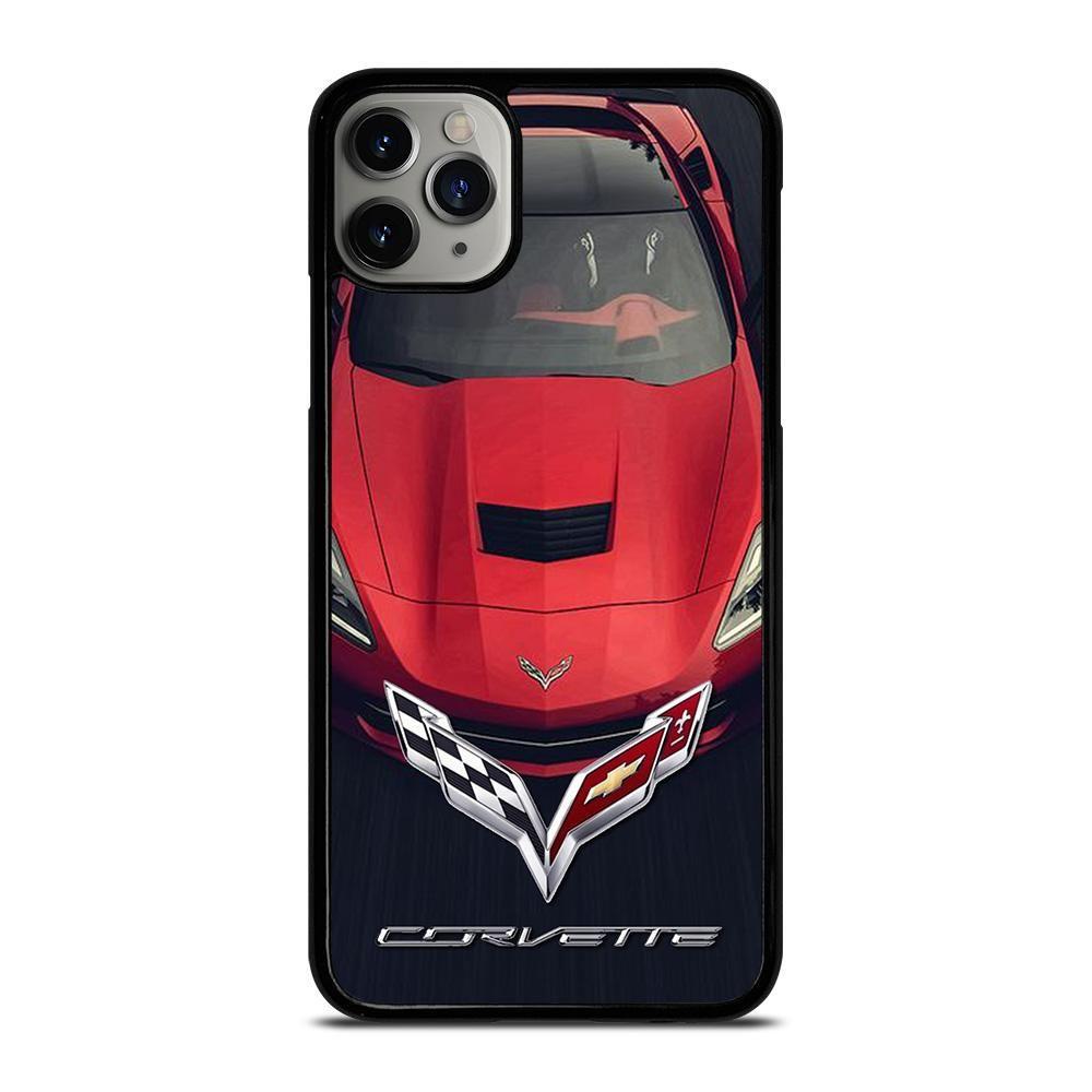 Corvette car red logo iphone 11 pro max case cover