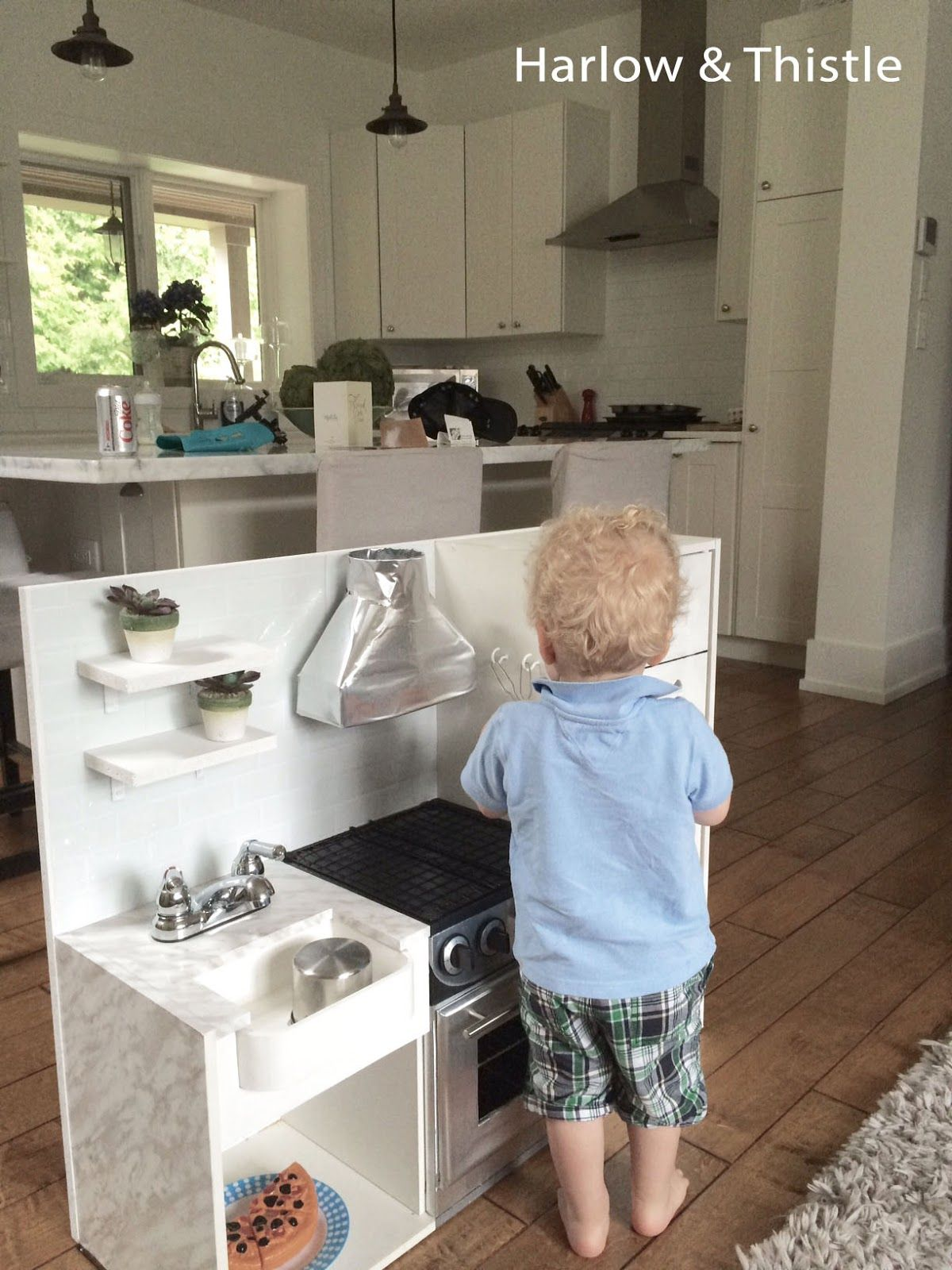 Harlow & Thistle DIY Play Kitchen, toy kitchen with