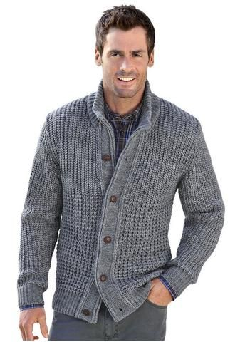 Mens hand knitted wool cardigan 64A | Mens cardigan sweater