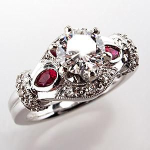 AMAZING ruby engagement rings Genuine Diamond Ruby Engagement