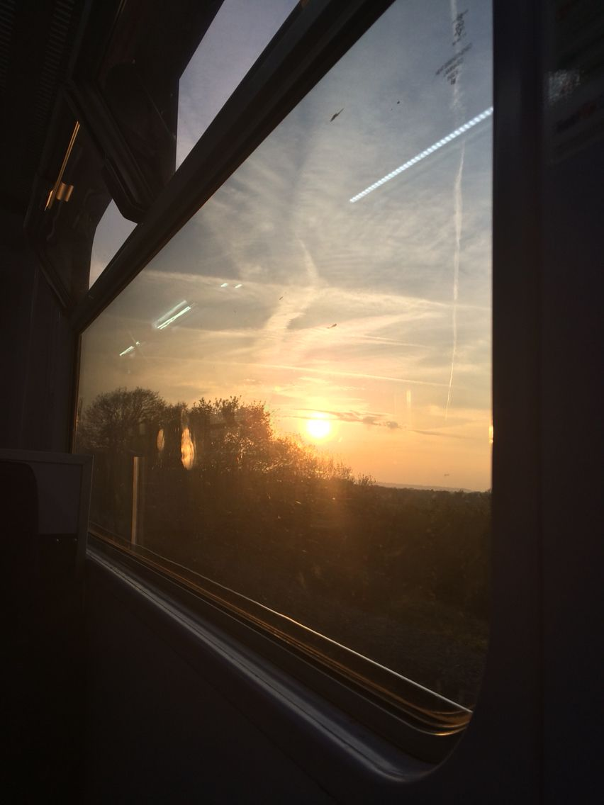 Sunset on the train back home #sunset #train