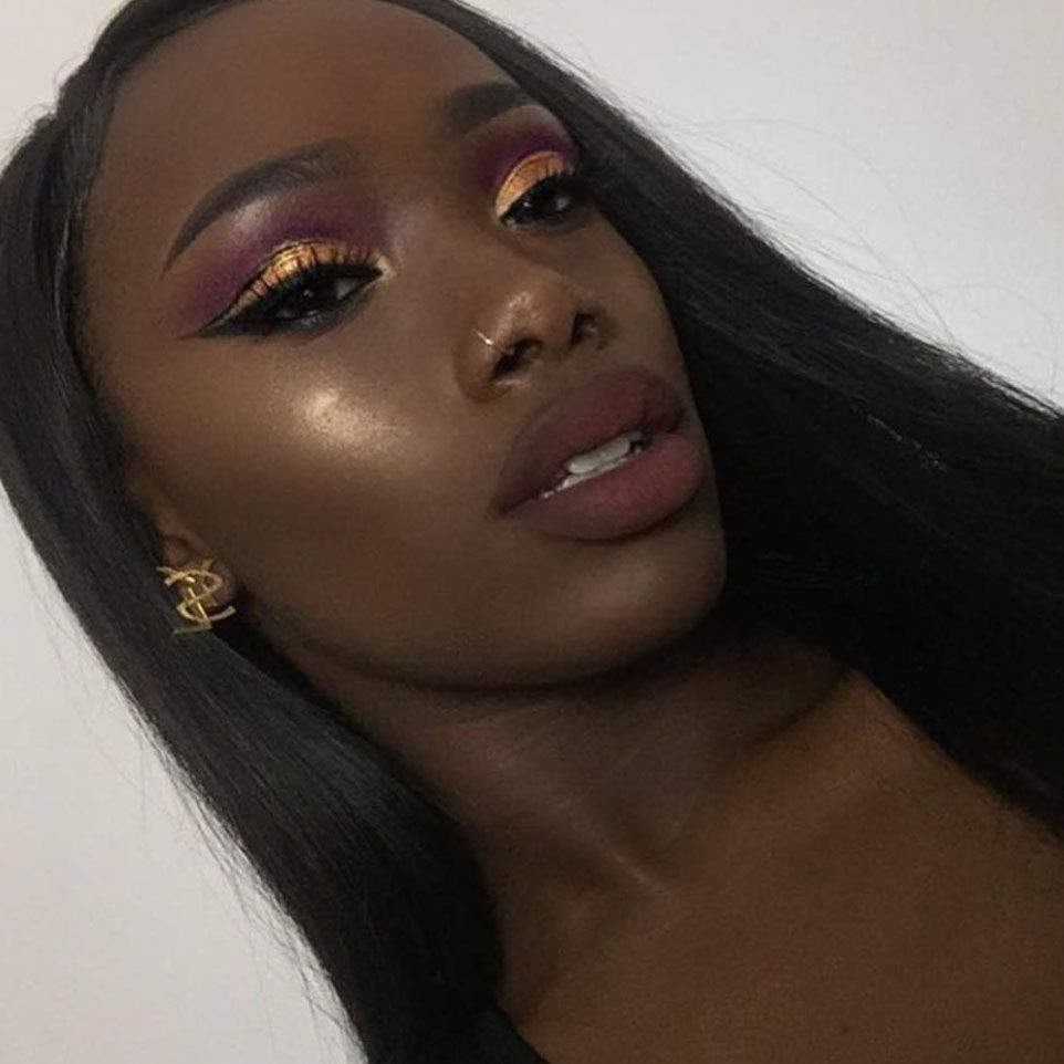 All of the Insta-Inspo You Need For Makeup On Dark Skin  Dark