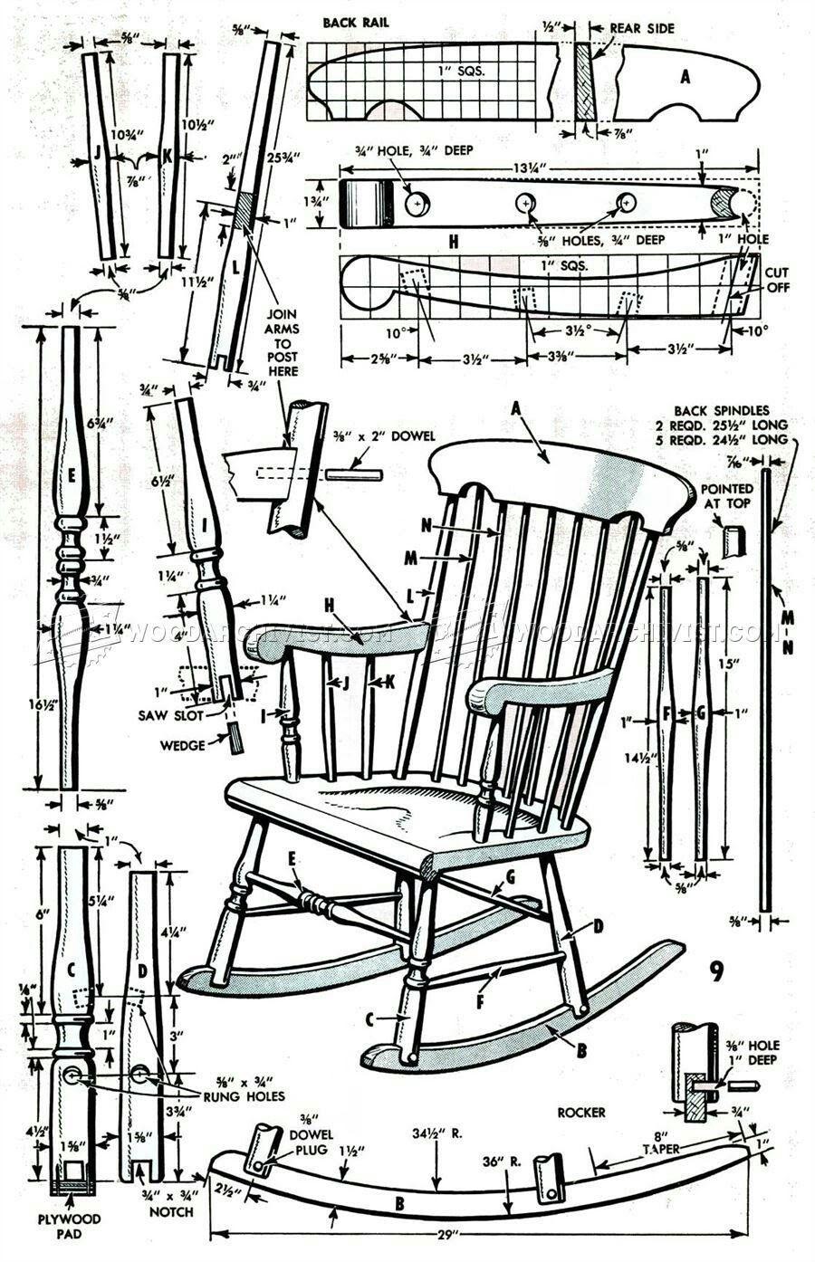 Pin By Vanjones C On Plans Rocking Chair Plans Wooden Rocking Chairs Rocking Chair