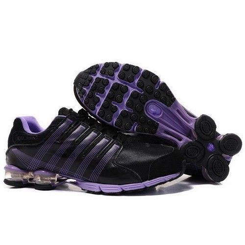 Nike Shox NZ Men Preschool Running Mesh BlackPurple Shoes 1049 67.9