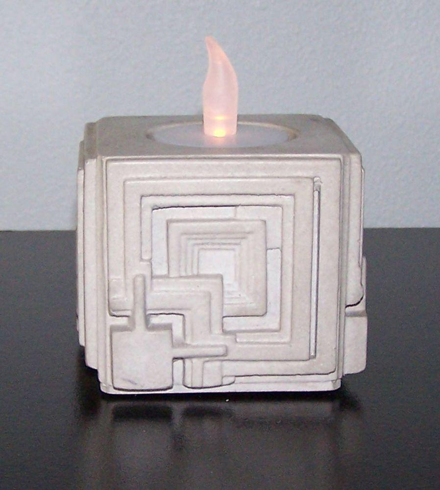 Frank Lloyd Wright Ennis House Candle Holder 3 5 Sq Cast
