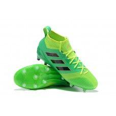 Modelos De Botas De Futbol Adidas ACE 17.1 Primeknit FG Verde Negro Amarillo 3708ecdfabce1