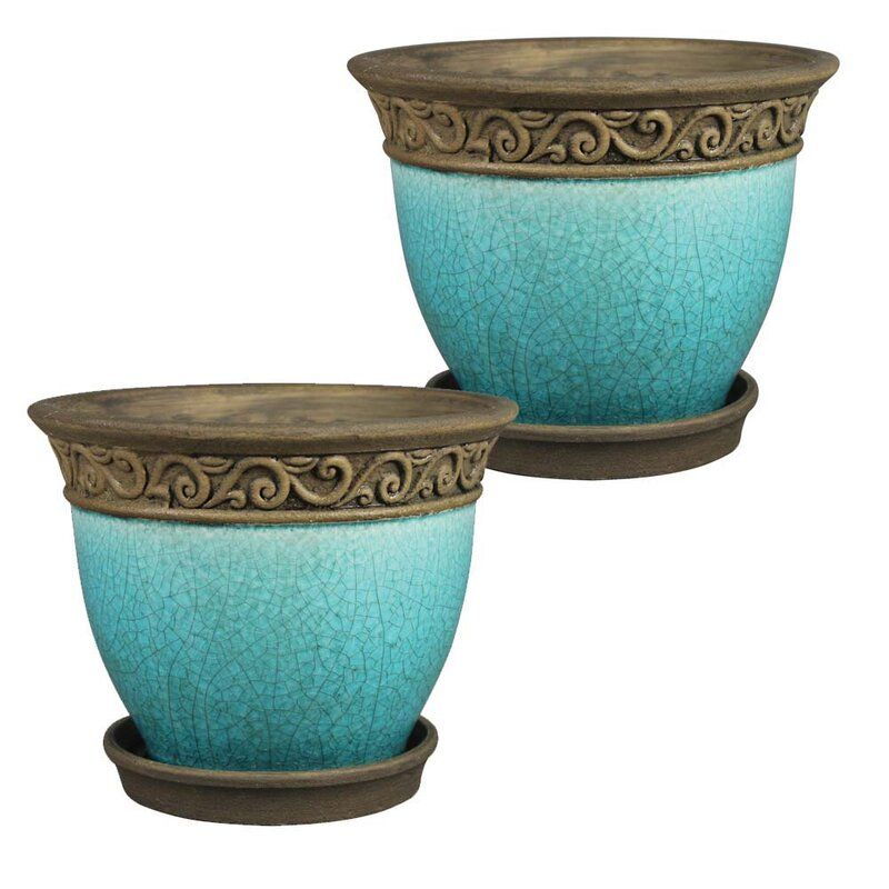 Catron 2 Piece Pot Planter Ceramic Planter Pots Ceramic Planters Ceramic Pot