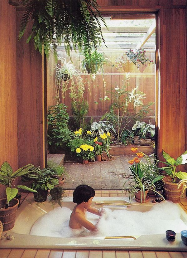 Drydockshop decorating with plants sunset books 1980 for Atrium design and decoration