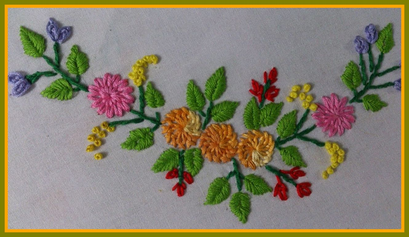The Best Hand Embroidery Stitches Tiny Design For Frocks Blouses Picture Of Simple P Embroidery Tutorials Embroidery Stitches Tutorial Hand Embroidery Stitches