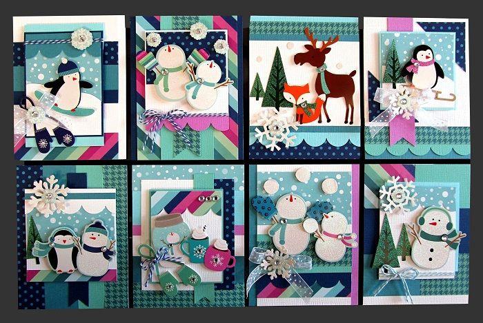 winter wonderland card kit  kim's card kits  handmade
