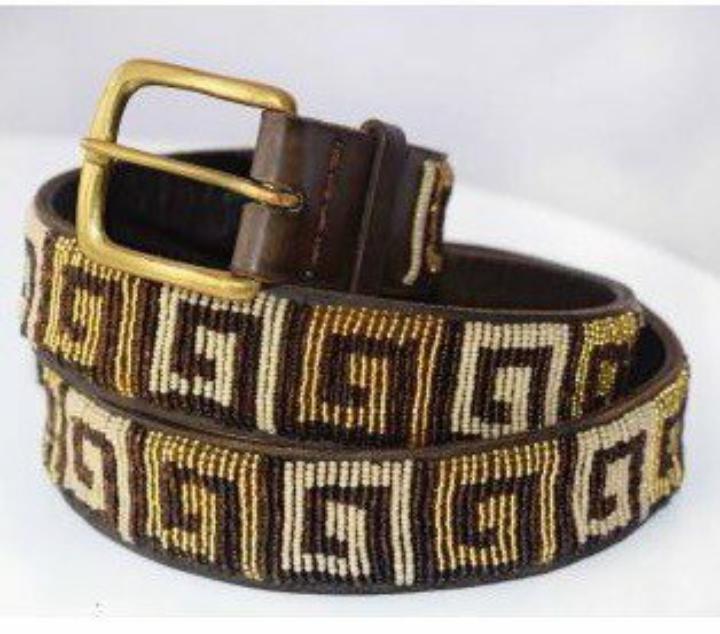 Brown beaded belt Vintage leather belts, Beaded belt