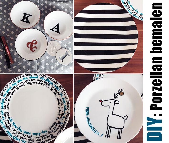 diy geschenkidee porzellan selbstbemalt | Porzellan Malerei ...