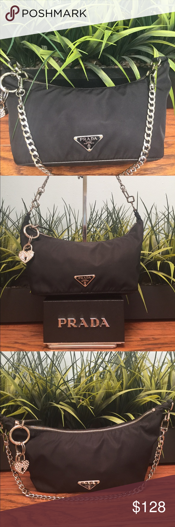 b233f69c55c430 Authentic Prada Tessuto Sirio Black w/authenticity This is a Prada  Semitracolla nylon bag from the group Tessuto Sirio. It's black inside and  outside.