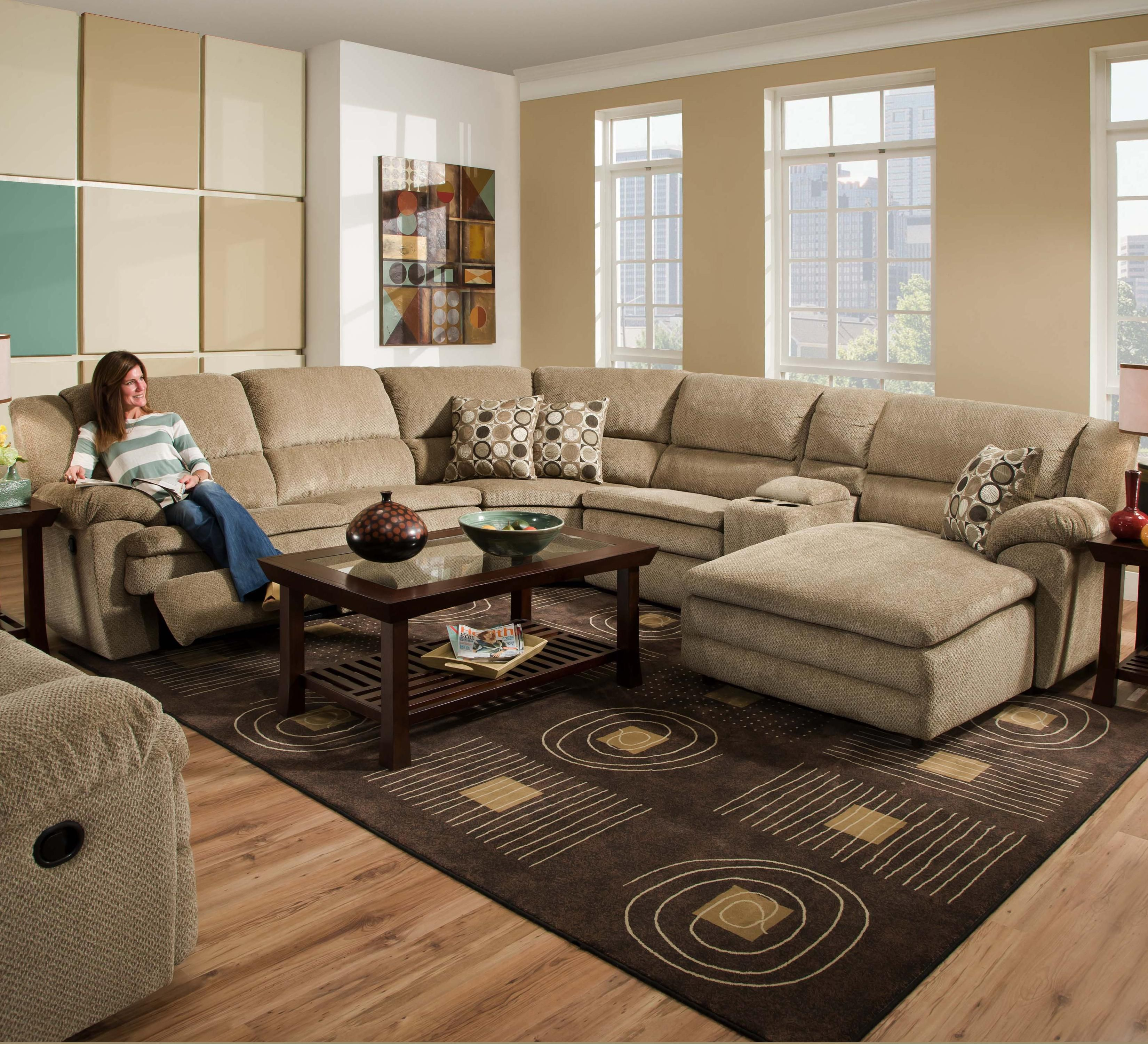 United Furniture Industries 50880 Reclining Sectional Sofa NB