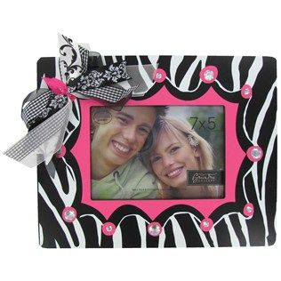 7 X 5 Pink Zebra Print Frame With Bows Bling Hobby Lobby 360214 Cute Picture Frames Art Craft Store Frame