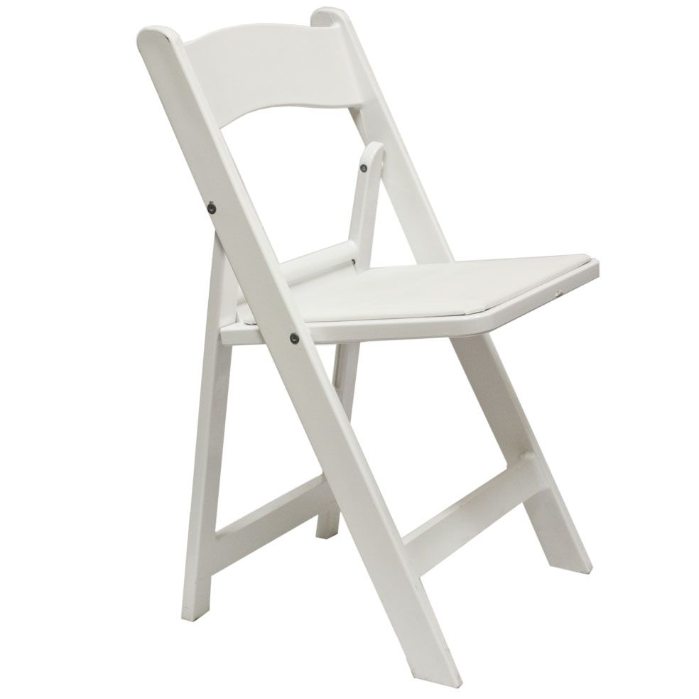 White Padded Folding Chairs Wedding Ceremony Chairs St Louis