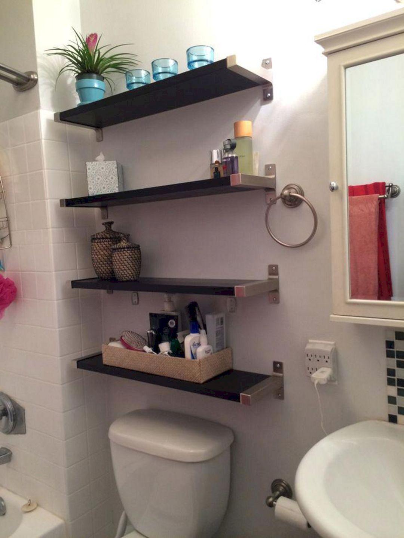 20 Incredible Small Bathroom Storage Design And Organization Ideas Bathroom Shelves Diy Bathroom Storage Small Bathroom Storage