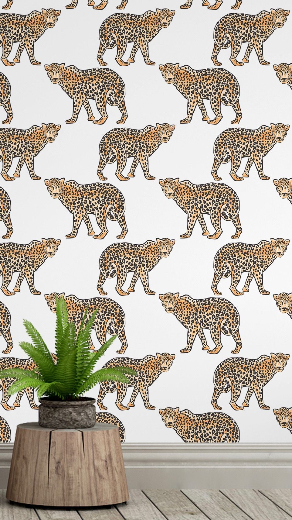 This leopard wallpaper is fabulous! It is removable self