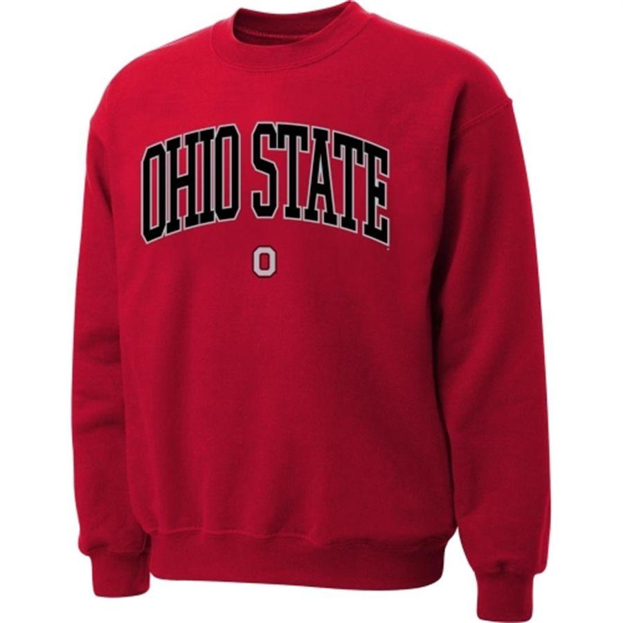 Ohio State Buckeyes Scarlet Twill Arch Crewneck Sweatshirt Sweatshirts Ohio State Sweatshirt Crew Neck Sweatshirt [ 900 x 900 Pixel ]