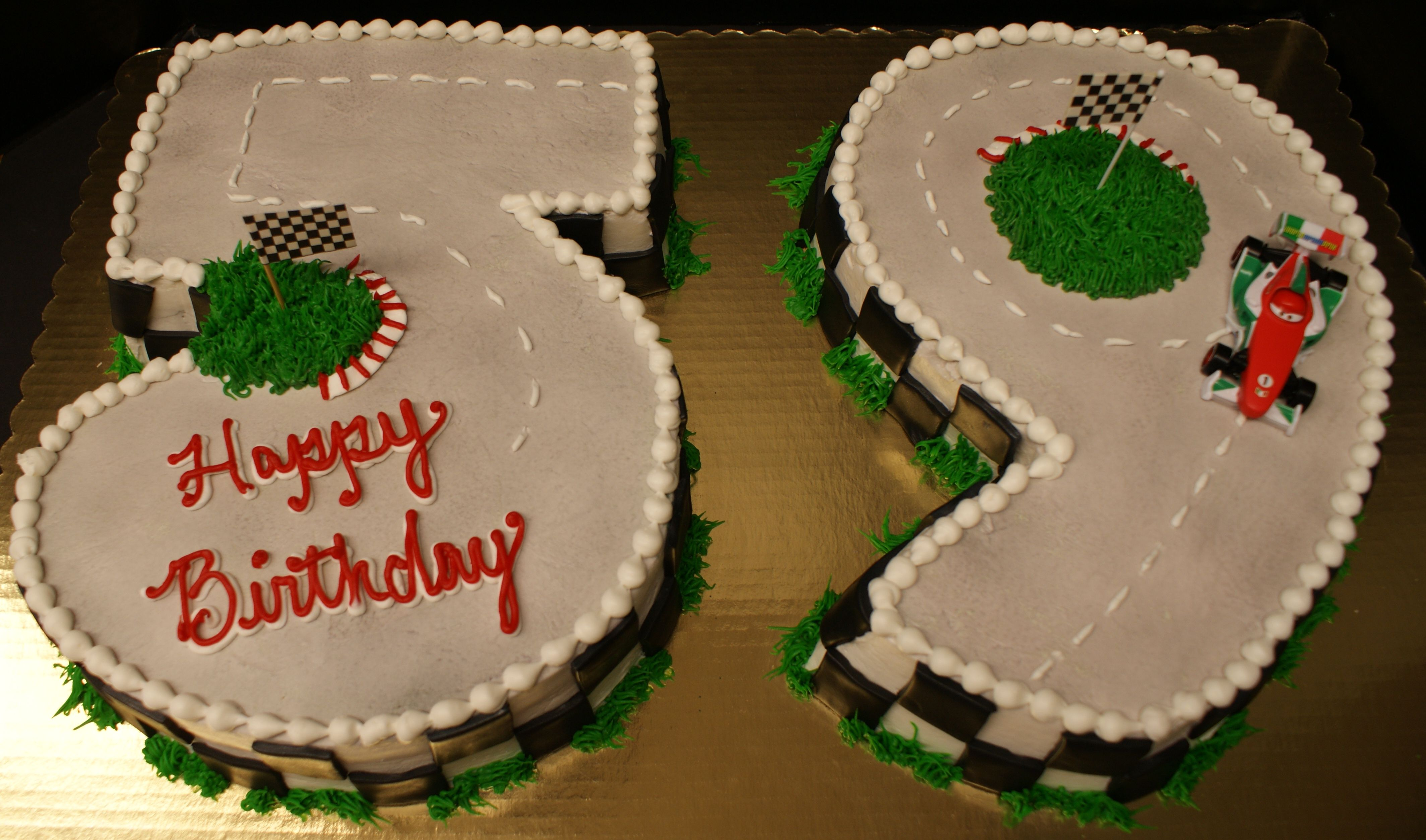 59th Birthday Cake With Race Car Theme With Images 59