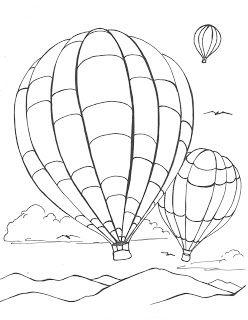 Creator S Joy Hot Air Balloon Coloring Page Hot Air Balloons Art Hot Air Balloon Balloons