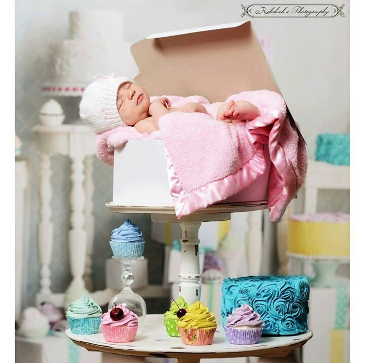Newborn photography baby cupcake props prop ideas