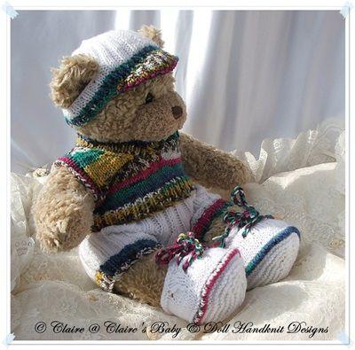 "Slipover and Shorts Set 16"" Teddy Bear/Bunny-teddy, knitting pattern ..."
