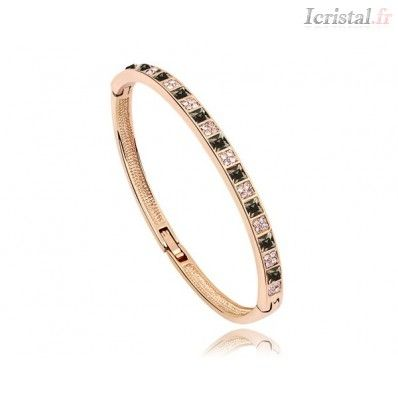 Bracelet par SWAROVSKI ELEMENTS ELEGANCE SIMPLE couleur blanc&amp