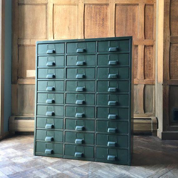 Industrial Storage Cabinet, Metal Parts Cabinet, Hobart, 27 Drawers,  Industrialu2026