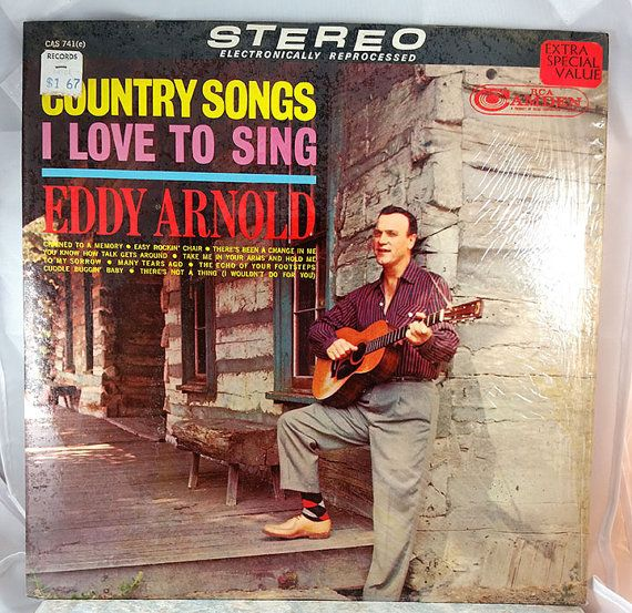 Eddy Arnold Vintage Vinyl Country Songs I Like To by WFosterDesign