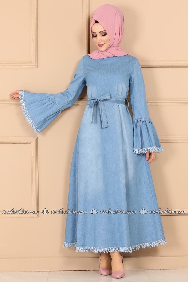 Moda Selvim Puskul Detay Kot Elbise Ast2024 Acik Kot Muslim Fashion Outfits Simple Dresses Hijabi Fashion Casual