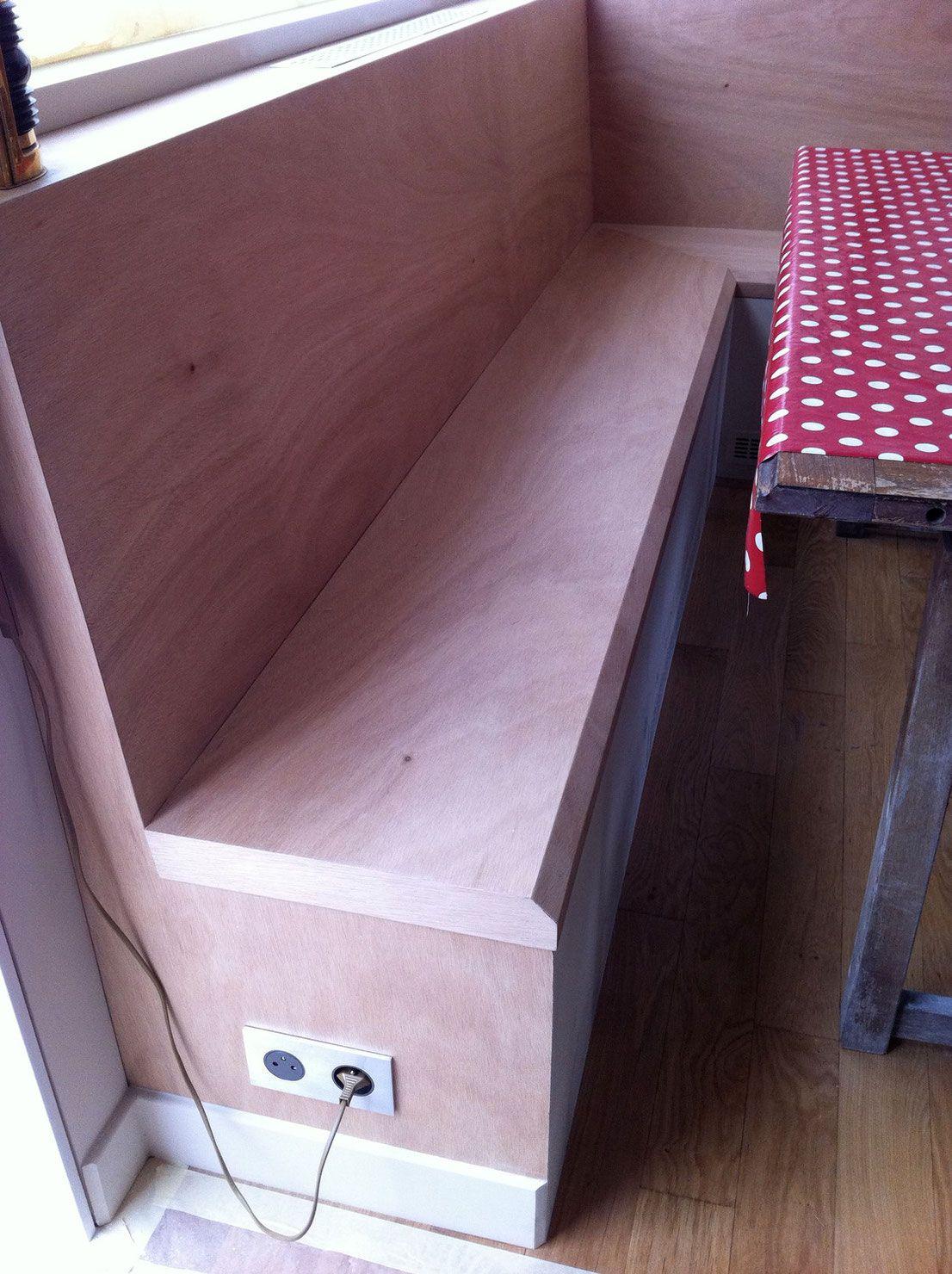 coin repas avec banquette de rangement sur mesure r alis. Black Bedroom Furniture Sets. Home Design Ideas