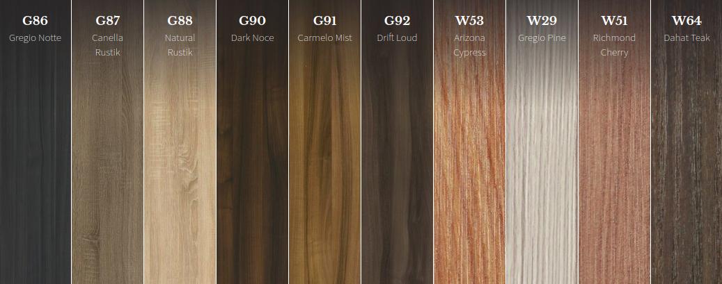 European Hardwood Alternative Textured Melamine The Artika Rain Collection Hardwood Alternative Melamine Texture