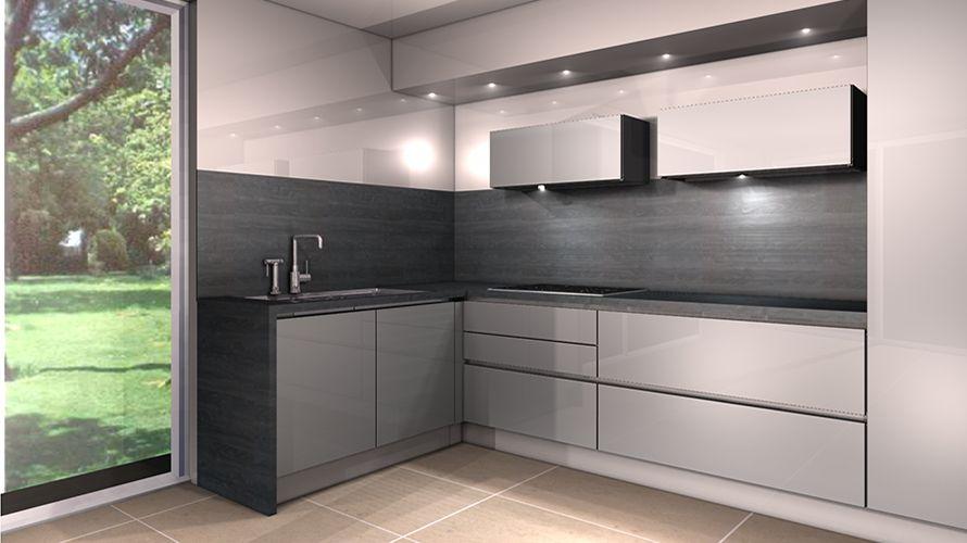 cuisine moderne nankin. realisation 15 moble cuisine grise et plan ... - Plan De Travail Cuisine Gris Anthracite