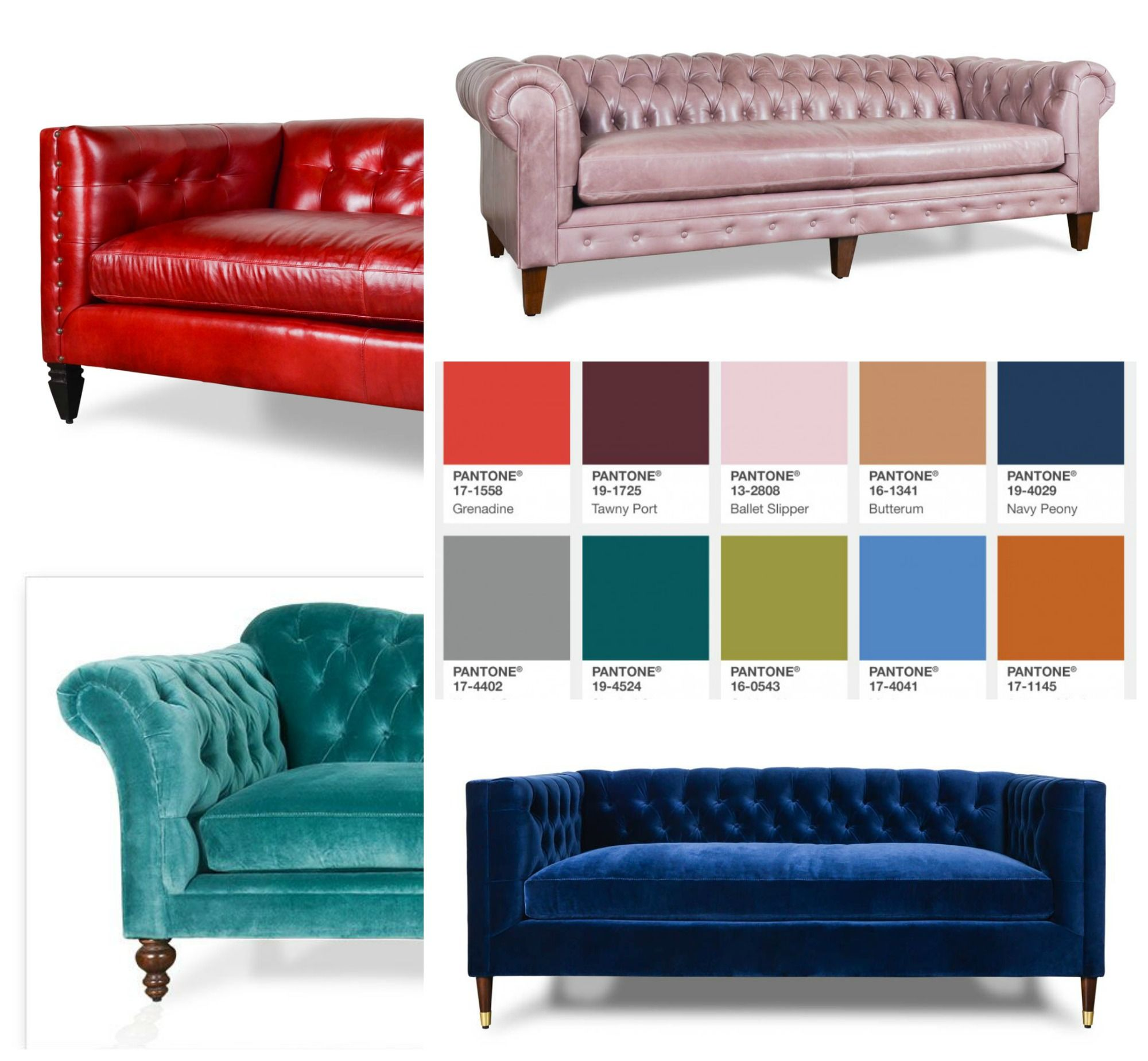 Some Fall Color Inspiration In Leather + Velvet #Leather #Leathersofa