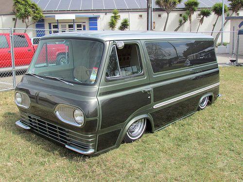 Kustom 63 Ford Econoline Vintage Vans Custom Vans Cool Vans