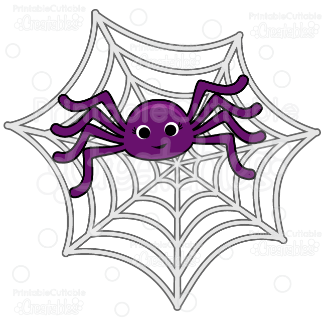 Spider web cute. In spiderweb svg cut