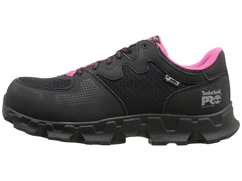 57bf88fc571c5 Timberland PRO Powertrain Alloy Toe ESD Women's Work Boots Black ...