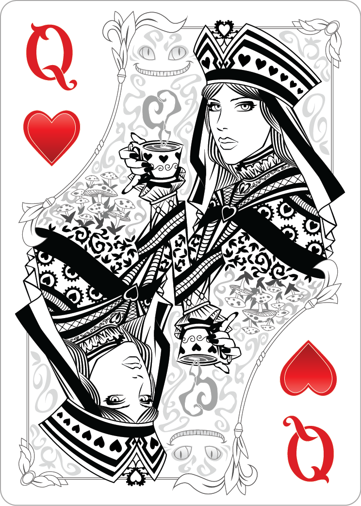 Queen Of Hearts Design Did I Find My Tattoo Women Love Coffee