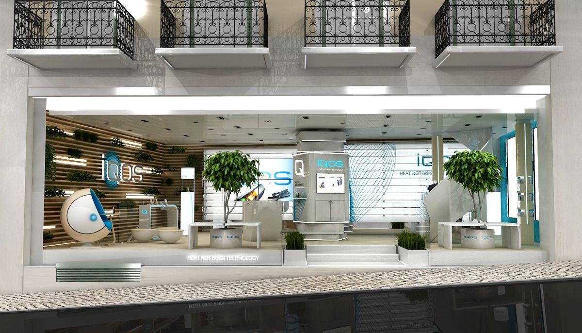 Iqos Flagship Store Phillip Morriscriatividade E Concepcao De Loja Iqos No Chiado Em Lisboa Pop Up Store Graphic Design Services Design