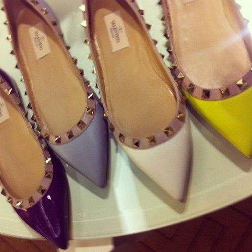 Valentino spiked flats. DIY inspiration