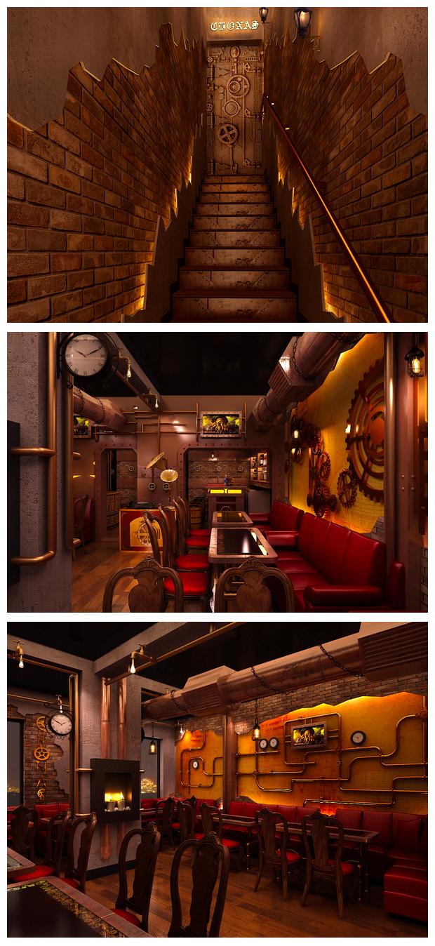 steampunk restaurant new deli fantasy steampunk pinterest bar ideen umbau und bar. Black Bedroom Furniture Sets. Home Design Ideas