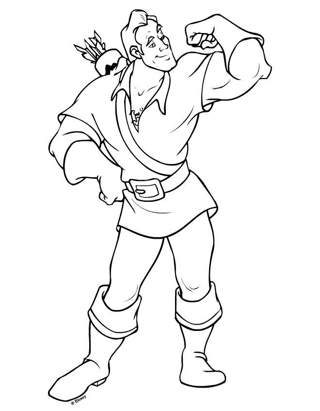 Gaston, perhaps with a musket behind his back instead of arrows ...
