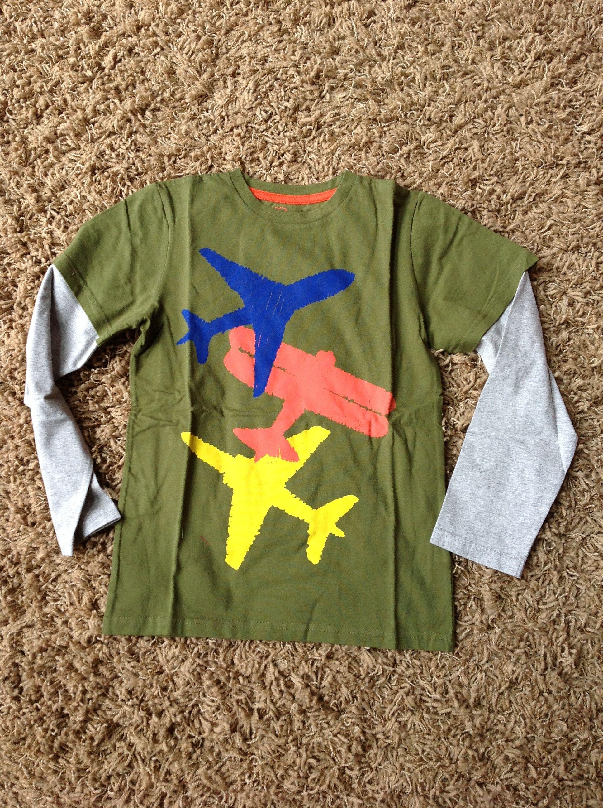 9-10, Basil/Planes Layered Print t-shirt - MiniBoden (2014).